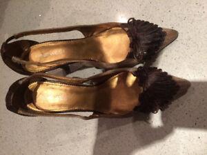 Nine West Tweed and Leather Heels