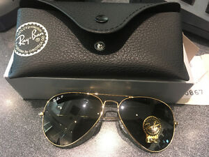 RAYBAN AVIATOR CLASSIC POLARIZED NEVER BEEN USED 210 OBO