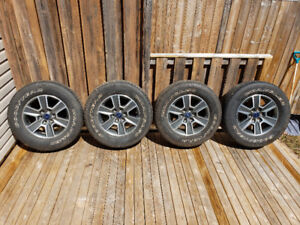 """275/65r18 Goodyear Wrangler/F150 18"""" Sport wheels with TPMS incl"""