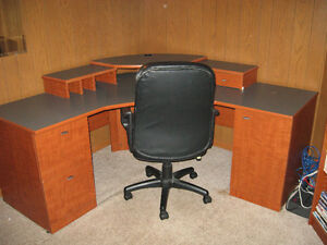 Corner Desk and Chair for sale