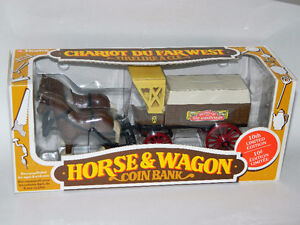Ertl 1991 Home Hardware Horse & Wagon Coin Bank Diecast