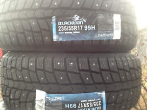 P235/55/17 New Set(4) Studded Winter Tires (Never Mounted)