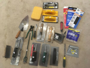 Ceramic floor installation tools and more (trowels, nippers)