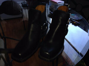 [Altimate Gear] Spirit Black Leather Biker-Boots! WORN ONCE!