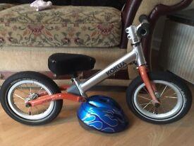 Balance Bike with brand new adjustable helmet