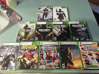 XBox 360 game collection - 11 titles - lot price