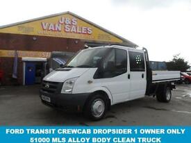 DROPSIDER T350 LWB 2.4 350 ALLOY PICKUP TRUCK 1 OWNER