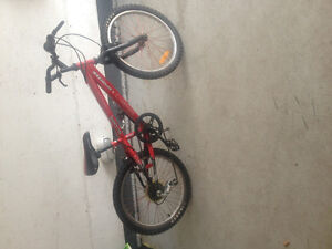 Boys 20 inch red bike . Good condition