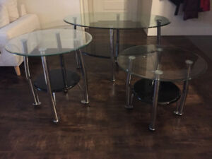 Glass Coffee & End Tables