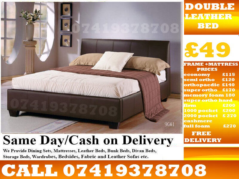 Amazing Offer Single, Double and King Size Leather BaseBeddingin Dagenham, LondonGumtree - Amazing Quality of Furniture available at lowest cost possible....We Deal in Divan and Leather Beds We Have Single, Double, Small Double sizes available in Beds and other variety you wouldnt get that from anywhere else You can contact Us any time On...