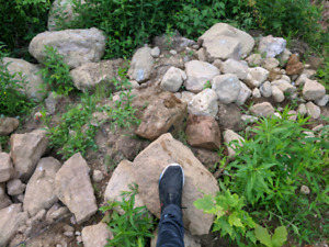 Boulders and stones for landscaping