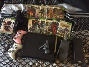 120 G Xbox 360+2controllers+Kinect+13 360games Stratford Kitchener Area image 2