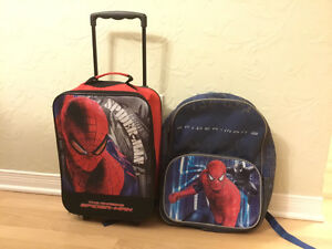 Spiderman Kids Suitcase / Valise and Backpack / Sac à Dos