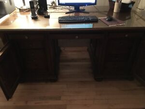 Executive Desk-Solid Oak