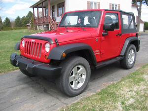 2011 JEEP WRANGLER SPORT MANUELLE ROUGE MAGS