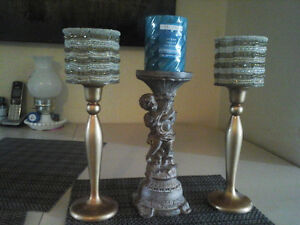 Set of 3 Candle holders from HomeSense. All for 10.00.