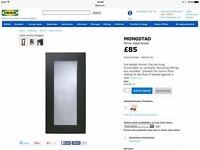 Large IKEA black/brown mirror