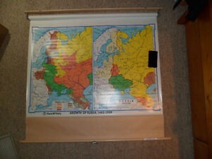 Roll Down Wall Map (the Growth of Russia) Kitchener / Waterloo Kitchener Area image 1