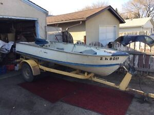12' aluminum boat and trailer