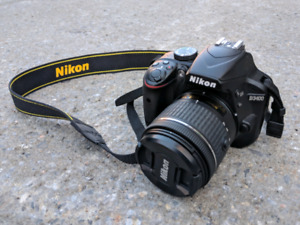 Nikon D3400 + lens
