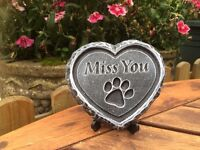 Pet memorial plaque( Miss You )