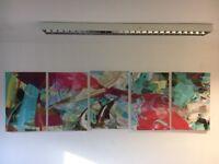 Set of 5x large canvas