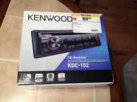 Kenwood KDC-152 In-Dash MP3/WMA CD Receiver