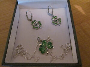 Shamrock Necklace & Earrings