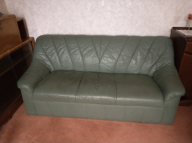 Leather Settee Sofa