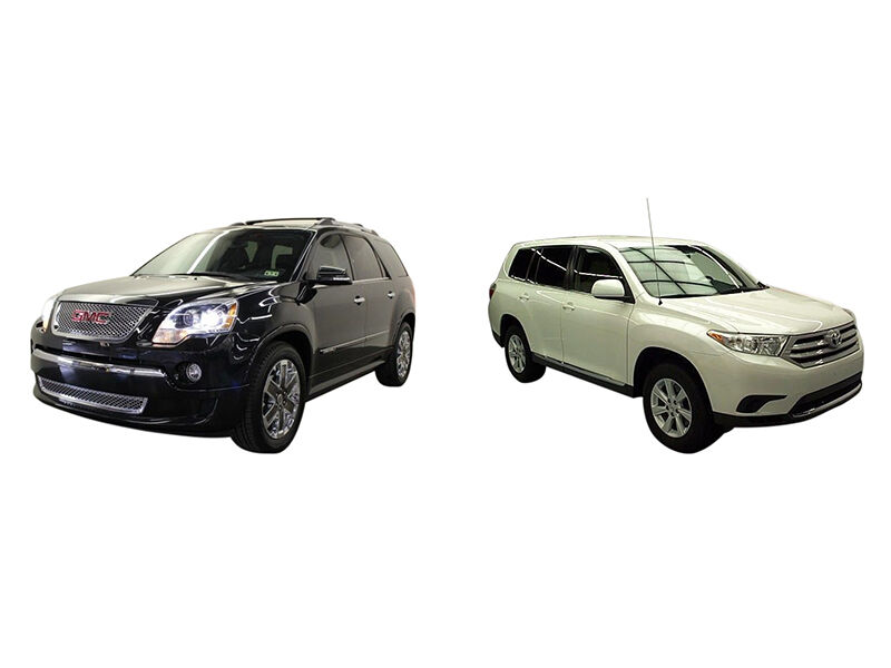 2011 acadia vs 2011 toyota highlander ebay. Black Bedroom Furniture Sets. Home Design Ideas
