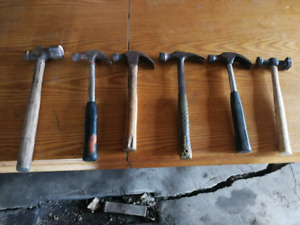 Hammers, screw drivers, files, wrenches, pliers