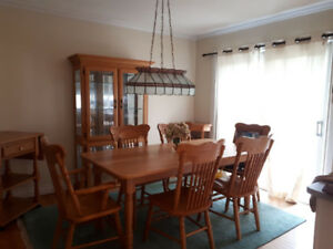 9 piece oak dining suite $1000.00 OBO