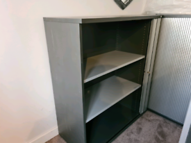 Sliding door cabinet with key