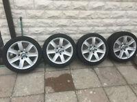 Original BMW Rims and Tires Set 225 45 17