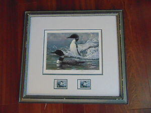 1988 Ducks Unlimited Canada plus Conservation stamp 50yrs London Ontario image 1