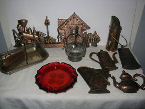 Lot of Assorted Vintage Items - EPNS, copper, wall decor, glass London Ontario image 1
