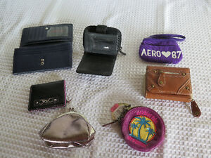7 Items: Wallets,Credit Card Holders, Coin Purses All for $10