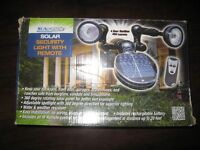 Sunforce Solar Security Light with Remote. NEW