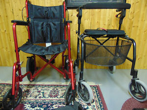 Aluminum light weight walker and Transport Chair