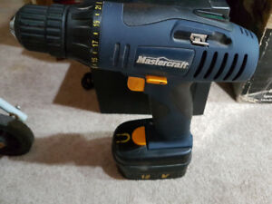 Mastercraft 12v cordless drill with battery, no charger