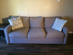 Couch with 2 throw pillows