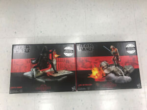 Star Wars Black Series Centerpieces Luke Skywalker + Darth Vader