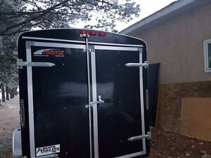 Enclosed utility trailer 6x12