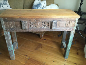 Antique reclaimed rosewood carved sofa table