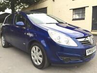 2008 58 Vauxhall Corsa 1.3CDTi 16v (75) EcoFlex Club A/C 5 Door Met Ultra Blue