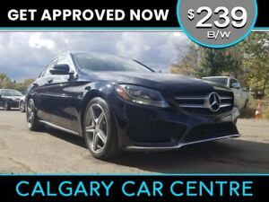 2015 Mercedes Benz C-Class $239B/W C300 AMG PKG w/Leather, PanoR