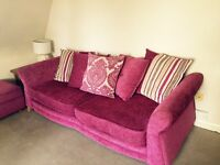 Pink dfs four seater sofa. Free delivery