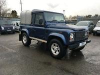 Land Rover Defender 90 2.4 TDi County Pick-Up 2dr (blue) 2008