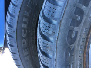 195/60R15 Hercules winter tires, Almost new!!