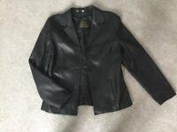 Women's Leather Blazer - size 10/12 NEW!